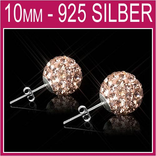 Shamballa-Ohrringe-Sterling-Silber-925-Ohrstecker-8mm-10mm-Zirkonia-NEU-7A01