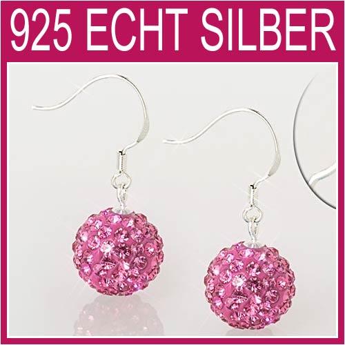 Shamballa-Ohrringe-Sterling-Silber-925-Ohrhaenger-12mm-m-Zirkonia-NEU-7A02